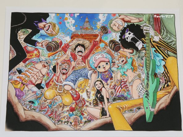 tokyo one piece towe print