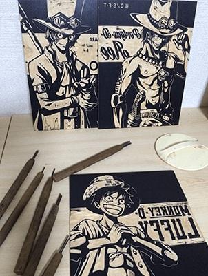 Des gravures en bois One Piece 00
