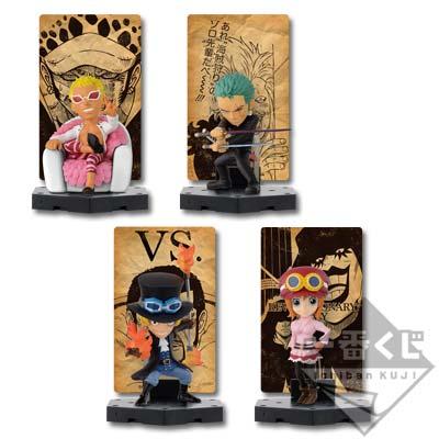 Ichibankuji One Piece Dressrosa Battle E Prize card stand figure