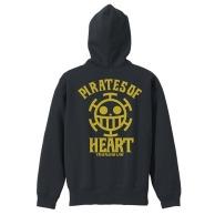 One Piece Heart Pirates VintageFu Zippered Parka BLACK 01