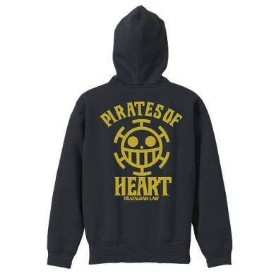 One Piece Heart Pirates VintageFu Zippered Parka BLACK 01