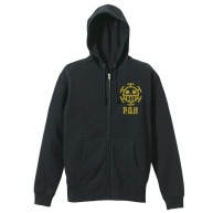 One Piece Heart Pirates VintageFu Zippered Parka BLACK