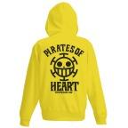 One Piece Heart Pirates VintageFu Zippered Parka BLAZING YELLOW 01