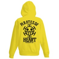 One Piece Heart Pirates VintageFu Zippered Parka BLAZING YELLOW 01