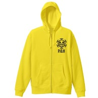 One Piece Heart Pirates VintageFu Zippered Parka BLAZING YELLOW