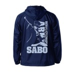 One Piece Revolutionary Army Sabo Hooded Windbreaker NAVY x YELLOW