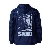 One Piece Revolutionary Army Sabo Hooded Windbreaker NAVY x YELLOW