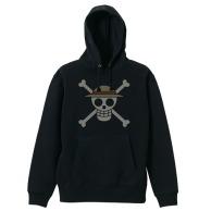 One Piece Straw Hat Pirates Pirate FlagParka BLACK