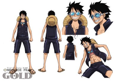 01 One Piece Film Gold luffy