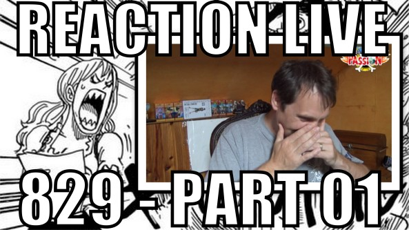 réaction live, chapitre, 829, one piece