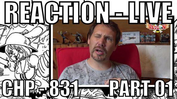 one piece, chapitre 831, réaction live