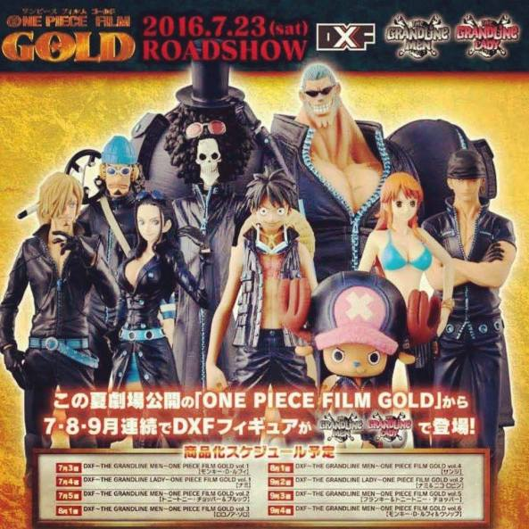 dxf, film gold, banpresto, figures