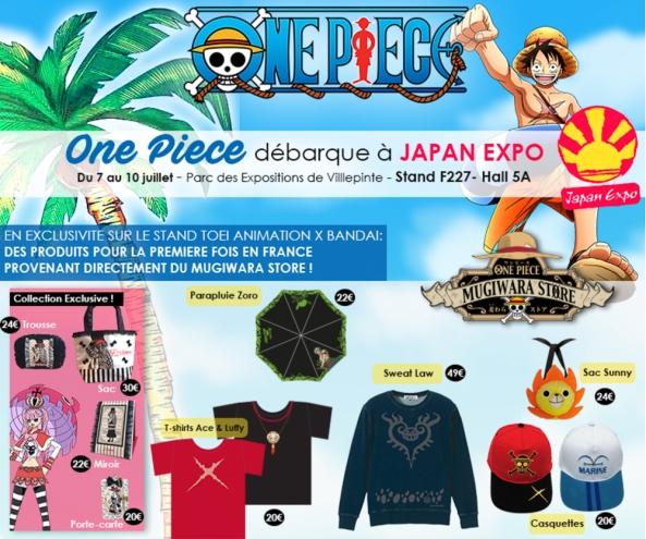 one piece, japan expo, toei animation, mugiwara store