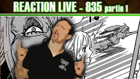 One Piece réaction live chapitre 835